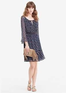 DVF Simonia Ruffle Chiffon Dress