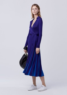 DVF Stevie Pleated Wrap Dress