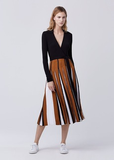 DVF Stevie Two Pleated Wrap Dress