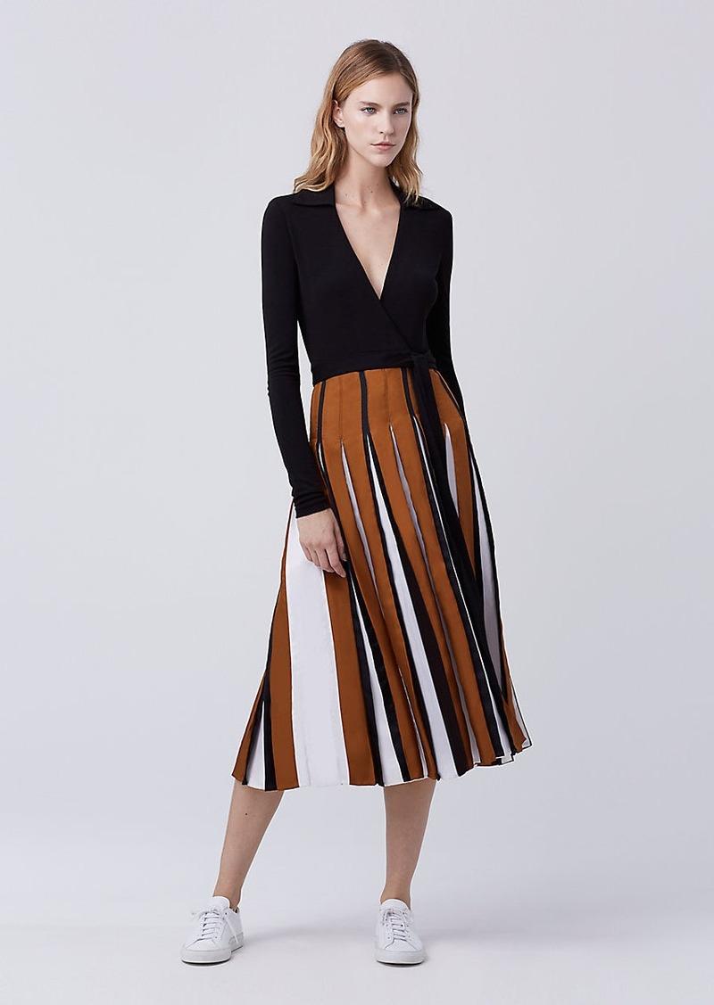 On Sale today! Diane Von Furstenberg DVF Stevie Two Pleated Wrap Dress