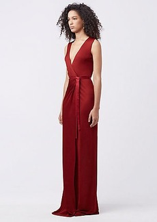 DVF TALEY WRAP GOWN