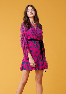 Diane Von Furstenberg Tamra Shocking Pink Dress