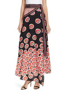 Diane Von Furstenberg DVF Taylor Wrap Maxi Skirt