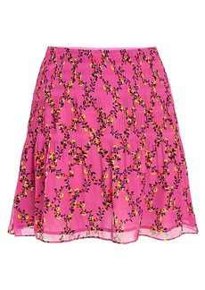 DVF Tayte Shirred Mini Skirt