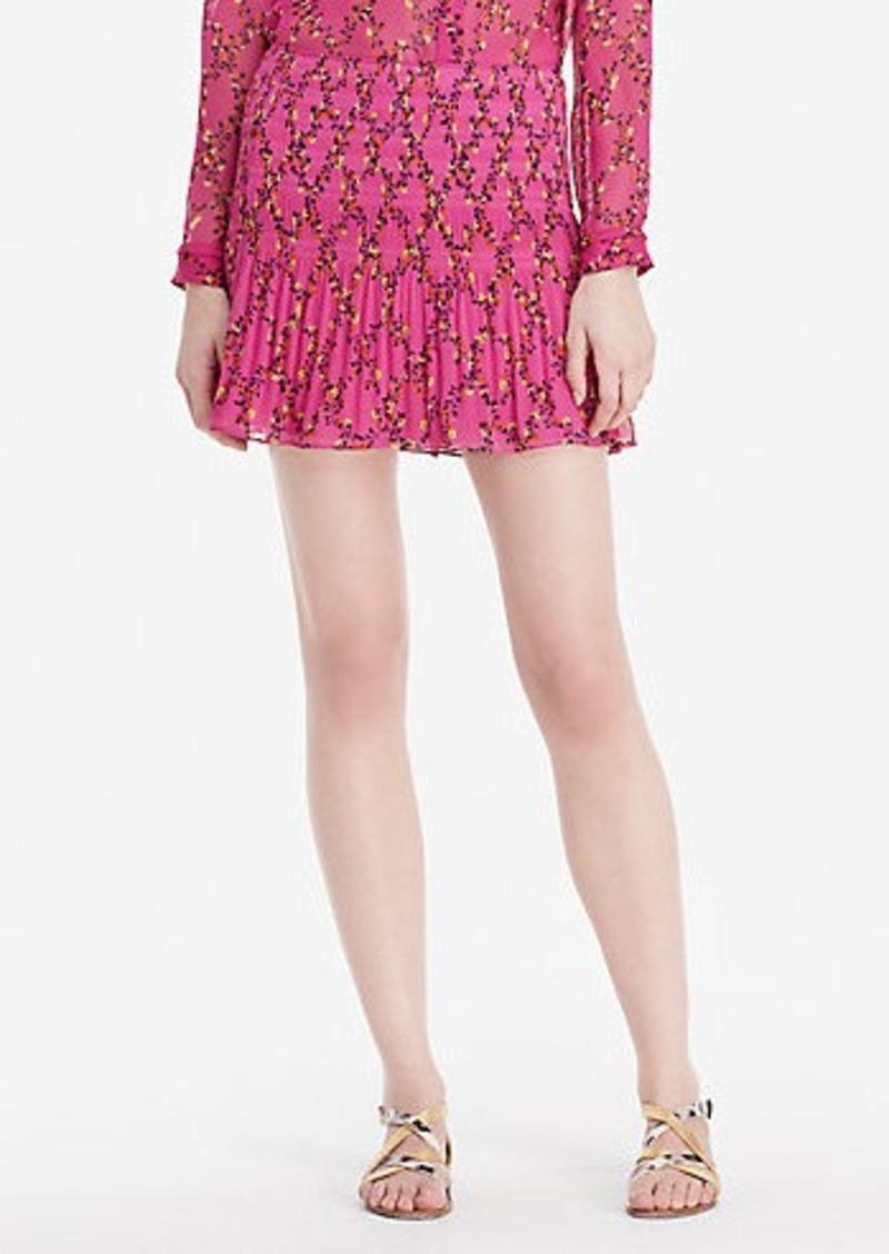 Diane Von Furstenberg DVF Tayte Shirred Mini Skirt