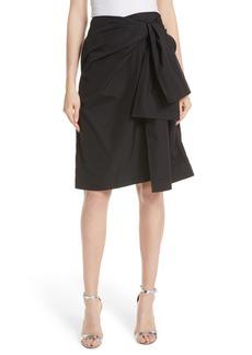 Diane Von Furstenberg DVF Tie Front Wrap Skirt