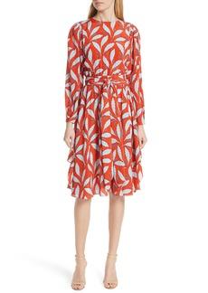 Diane Von Furstenberg DVF Tie Waist Silk Dress