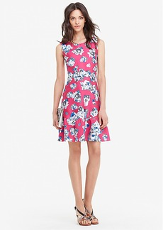 DVF Topanga Mikado Fit and Flare Dress