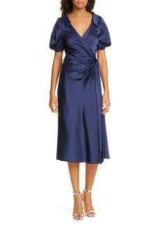 Diane Von Furstenberg DVF Valentina Wrap Midi Dress
