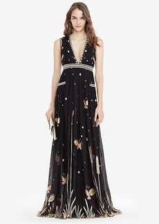 DVF Vivanette Embroidered Tulle Goddess Gown