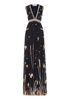 DVF Vivanette Embroidered Tulle Goddess Gown