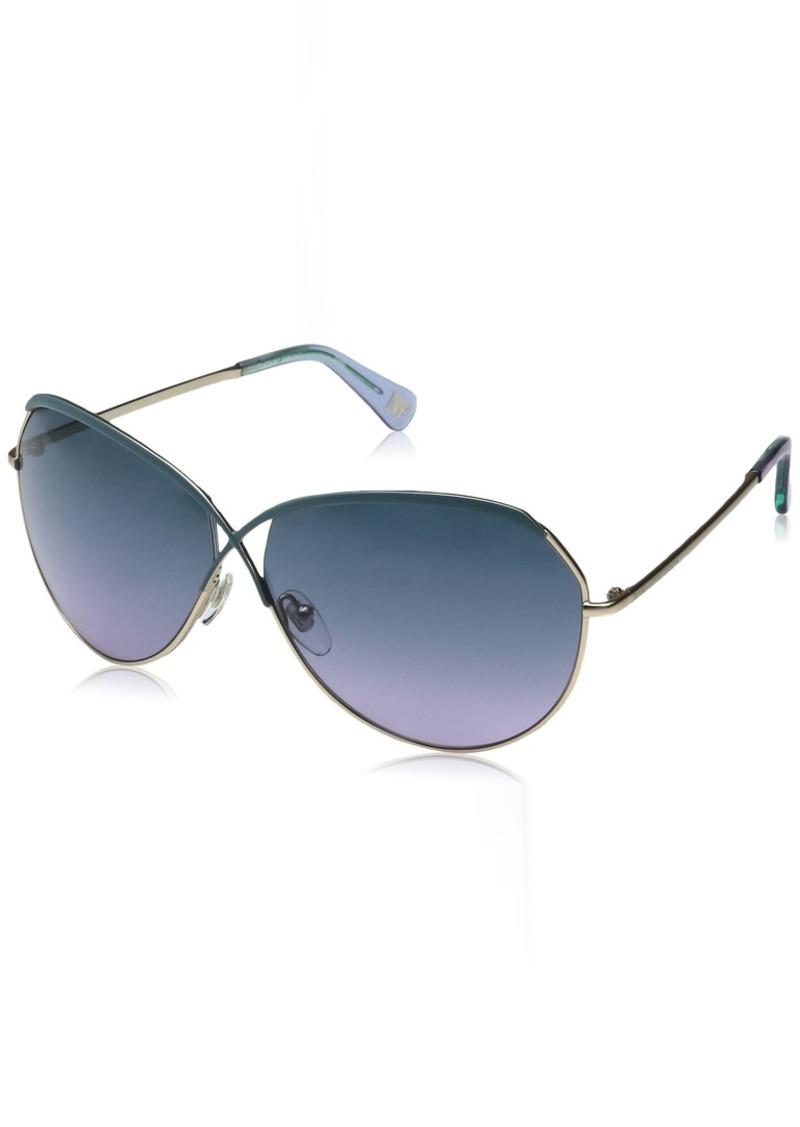 Diane Von Furstenberg DVF Women's Bette Oval Sunglasses