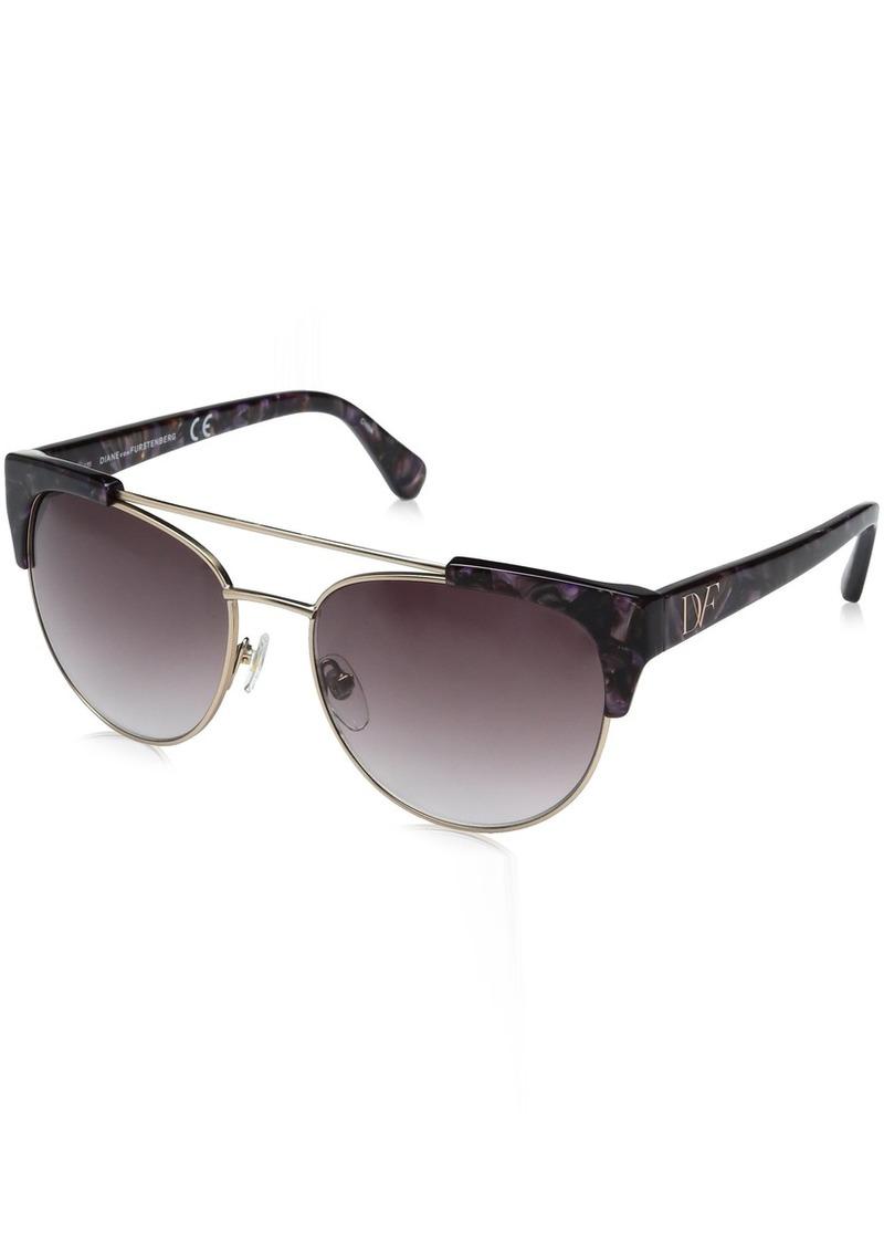 Diane Von Furstenberg DVF Women's Carine Oval Sunglasses