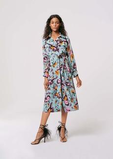 Diane Von Furstenberg Eda Trench Coat in Tulle Flower