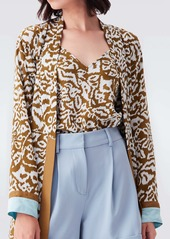 Diane Von Furstenberg Edith Silk Crepe De Chine Cami in Bali Leopard