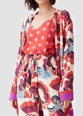 Diane Von Furstenberg Edith Silk Crepe De Chine Cami in Chickpea Dot