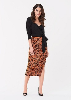 Diane Von Furstenberg Edna Ruched Mesh Midi Skirt