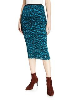Diane Von Furstenberg Elaine Leopard-Print Pencil Skirt