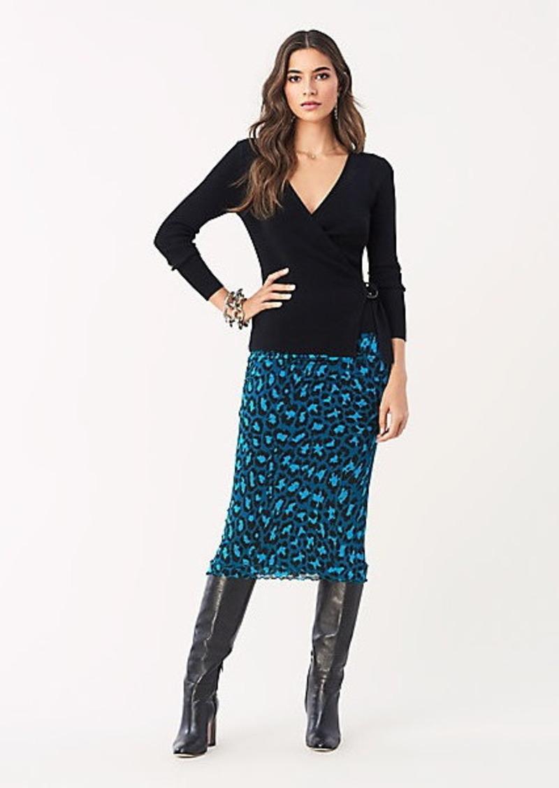 Diane Von Furstenberg Elaine Tissue Jersey Midi Skirt