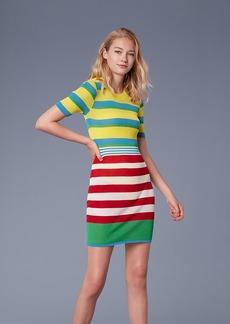 Diane Von Furstenberg Elbow Sleeve Sweater Dress