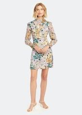 Diane Von Furstenberg Elinor Mock Neck Mini Dress
