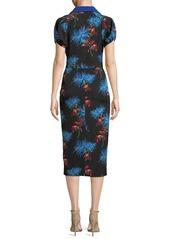 Diane Von Furstenberg Elly Floral Short-Sleeve Midi Polo Dress