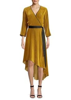 Diane Von Furstenberg Eloise Stretch Silk Wrap Dress