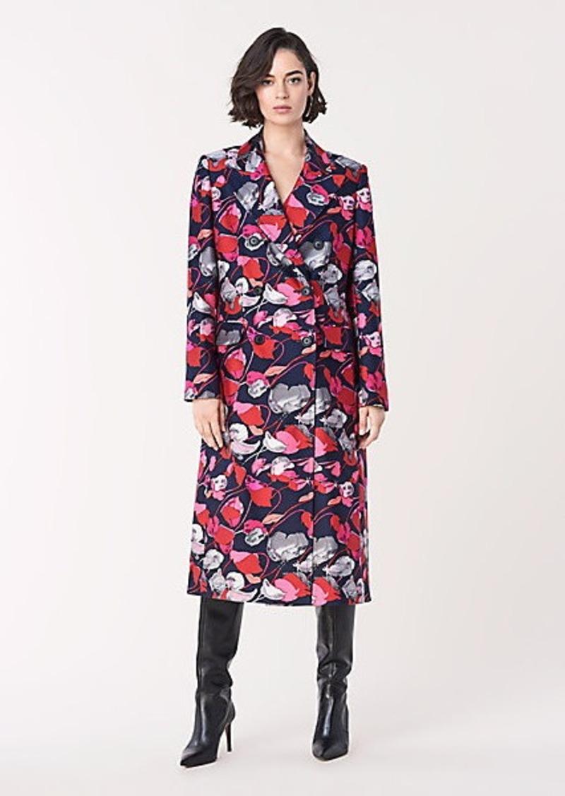 Diane Von Furstenberg Elsa Mikado Double-Breasted Coat