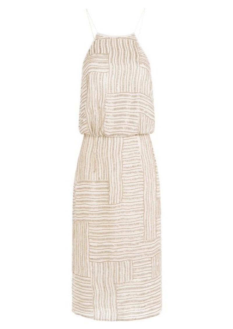 Diane Von Furstenberg Embellished Silk Dress