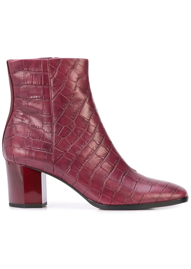 Diane Von Furstenberg embossed leather ankle boots