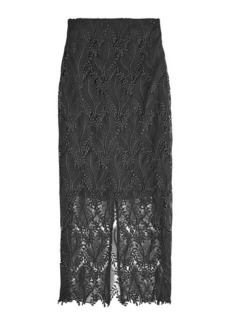 Diane Von Furstenberg Embroidered Lace Pencil Skirt