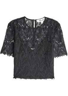 Diane Von Furstenberg Embroidered Lace Top