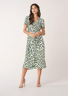 Diane Von Furstenberg Cecilia Ruched Crepe Midi Dress