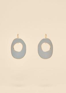 Diane Von Furstenberg Enamel Hoop Earrings