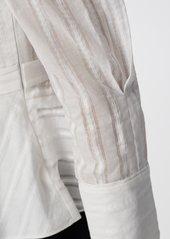 Diane Von Furstenberg Erin Cotton-Jacquard Blouse in White