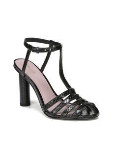 Diane Von Furstenberg Eva Leather T-Strap Sandals