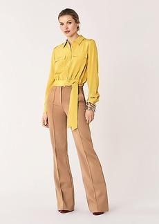 Diane Von Furstenberg Everlynn Silk Crepe de Chine Belted Blouse