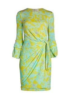 Diane Von Furstenberg Faridah Print Side-Knot Sheath Dress