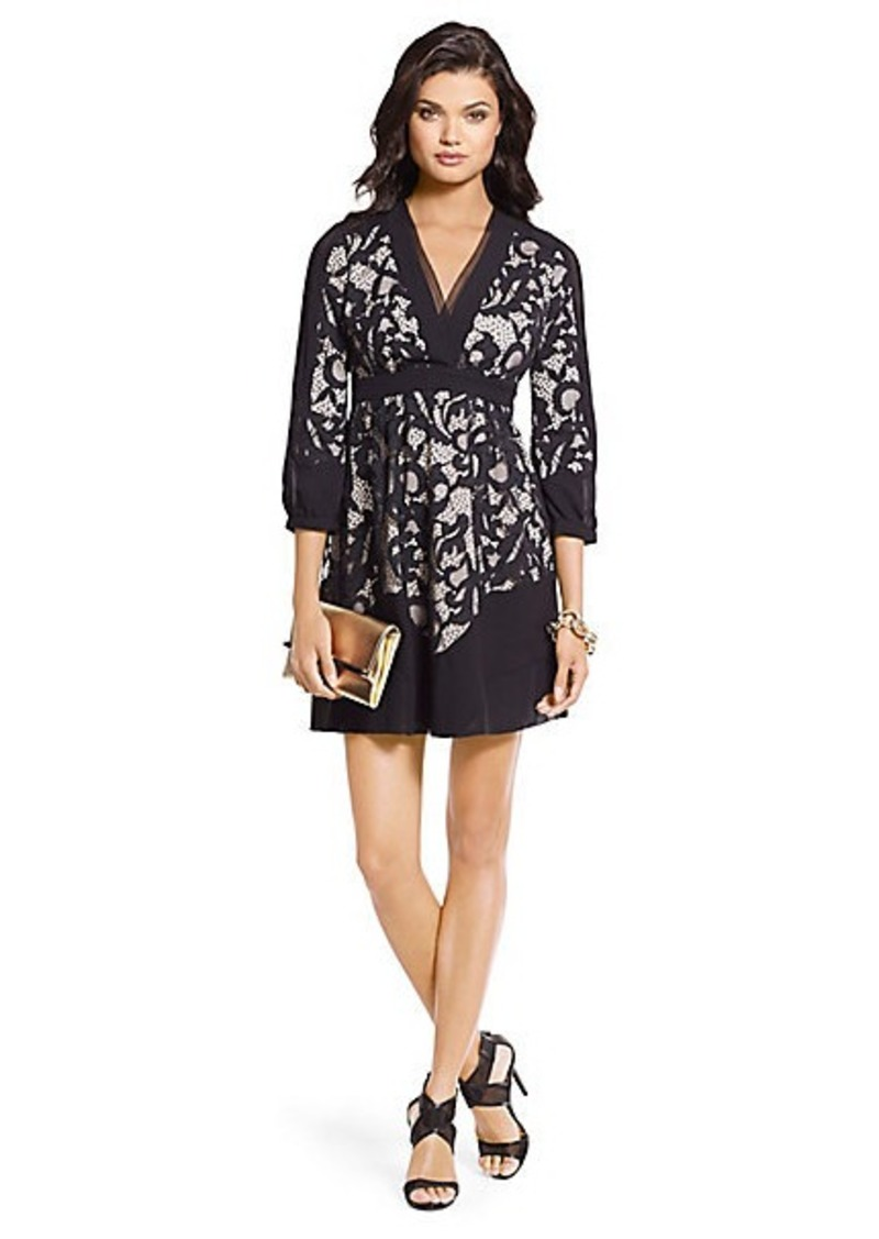 Diane Von Furstenberg Fern Two-Toned Lace Dress