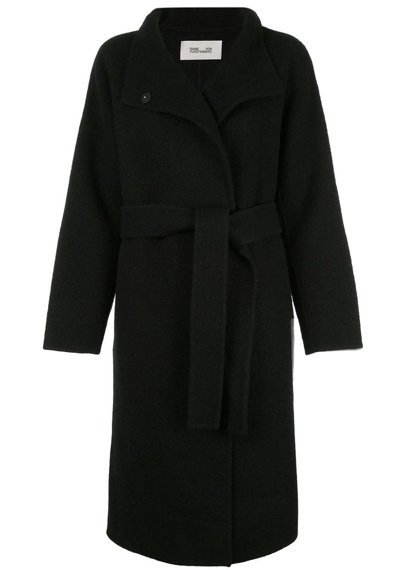 Diane Von Furstenberg fine knit belted coat
