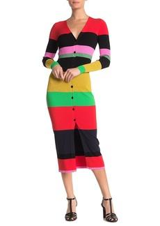 Diane Von Furstenberg Finn Colorblock Stripe Cardigan