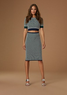 Fitted Jacquard Pencil Skirt