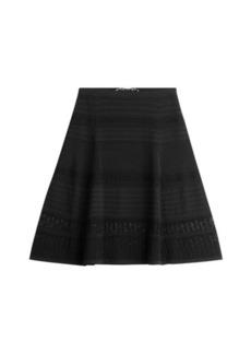 Diane Von Furstenberg Flared Skirt with Lace Trim
