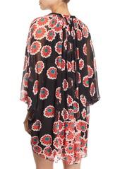 5a9f9ce577d5a ... Diane Von Furstenberg Fleurette Floral Silk Shirred Coverup Dress