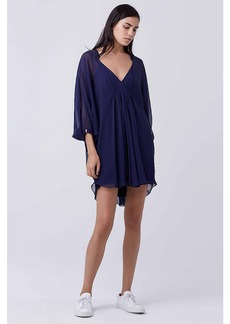 Fleurette Silk Chiffon Kaftan Dress