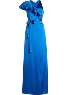 Diane Von Furstenberg Floor Length Satin Dress