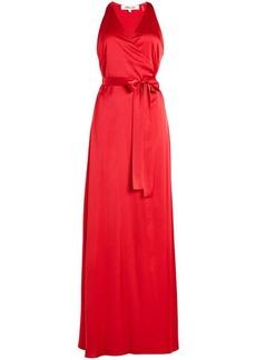 Diane Von Furstenberg Floor Length Satin Gown
