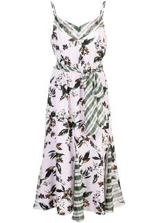 Diane Von Furstenberg floral and check dress