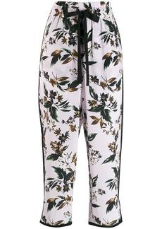 Diane Von Furstenberg floral cropped trousers
