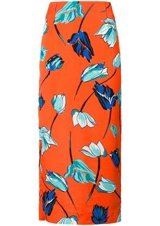 Diane Von Furstenberg floral fitted skirt